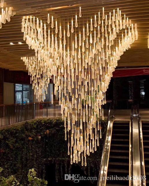 Water Drop Crystal Creative Pendant Light European-style Luxury LED Lamps Crystal Glass Indoor Lighting Scandinavian Loft Restaurant Lamp