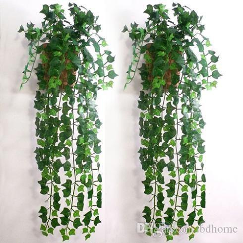 Atacado de venda quente Artificial Ivy Folha Garland plantas de videira falsificados Folhagem Flores Decoração decorações do feriado agora