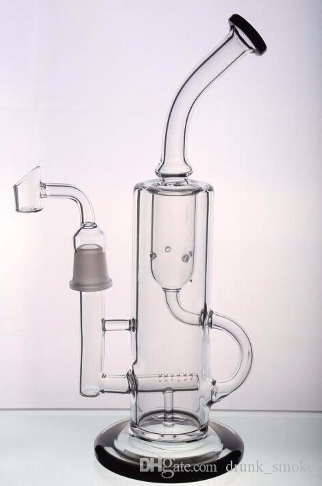 Glasbongs Wasserleitungen heady Recycler Bohrinseln Schüssel Bubbler Waben turbine PERC Rauchen inline männlichen hookahs