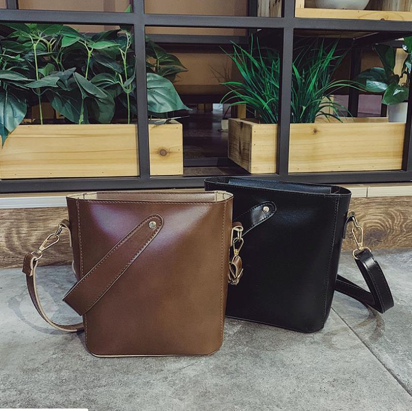 Simples Moda Bucket Hot Bolsas da Mulher e versátil grande capacidade de ombro único saco Diagonal pernalta Saco Lazer bolsa