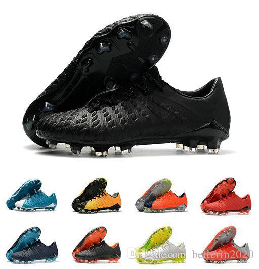 حار بيع 2019 Hypervenom فانتوم III DF FG أحذية كرة القدم في الهواء الطلق Hypervenom ACC الجوارب لكرة القدم المرابط الكاحل قليلة أحذية كرة القدم 40-45