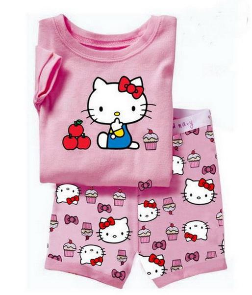 venda Hot Summer Girls Suits Pijamas manga curta Crianças Pijama Character Crianças Pajama Define inferior Meninos Pijamas Roupa YW10