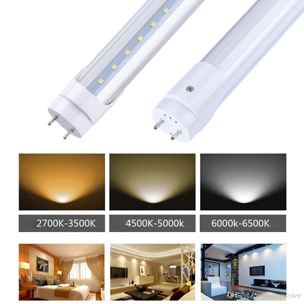 T8 G13 Led Tube Lights 0.3 M 1ft 1.5 ft 0.45 M T8 LED Tube 4W 6W Cold White Fluorcent Lamp SMD2835