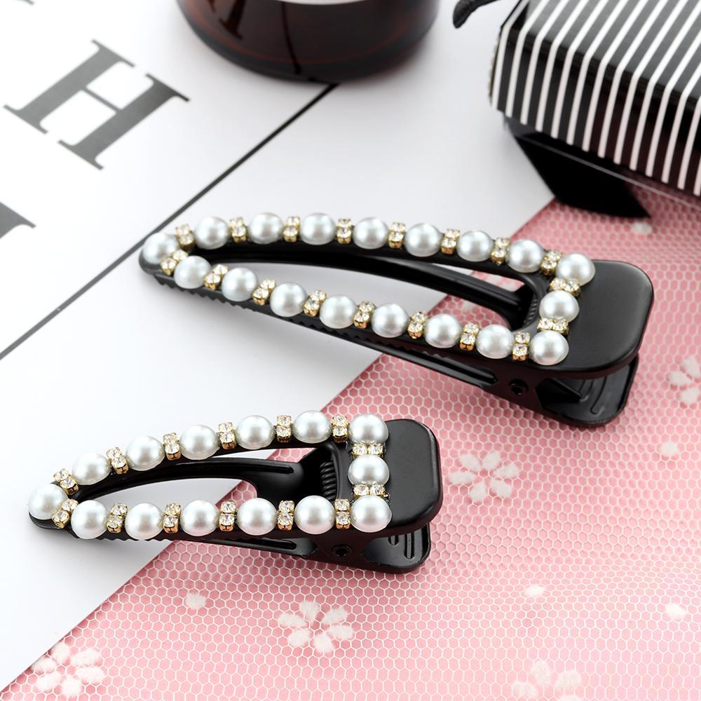 Fashion Women Pearl bowknot Hair Clips  Elegant Bobby  Hair Clip Accessories