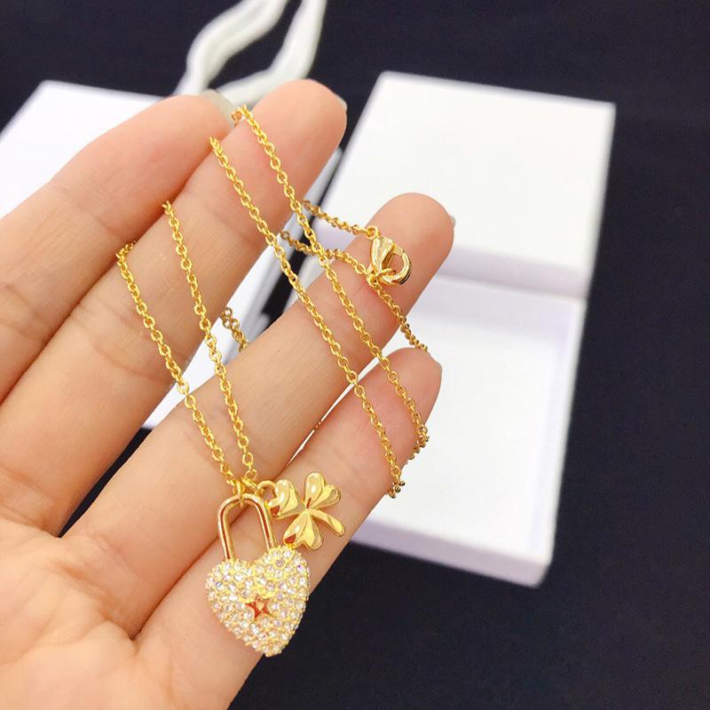 2019 новый золотой любовь звезда бриллиантовое ожерелье подходит для дам подарок D ювелирных изделий