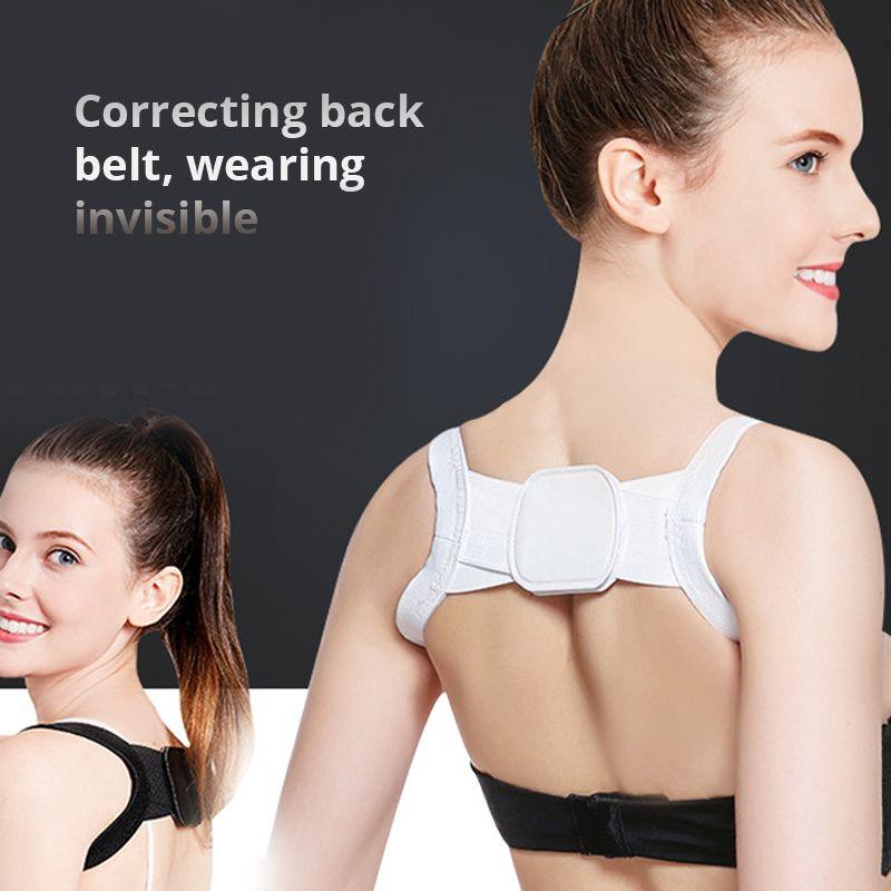 Voltar Posture Corrector Clavícula Voltar Apoio correção Ombros costas retas Strap Brace para Adulto Chilren