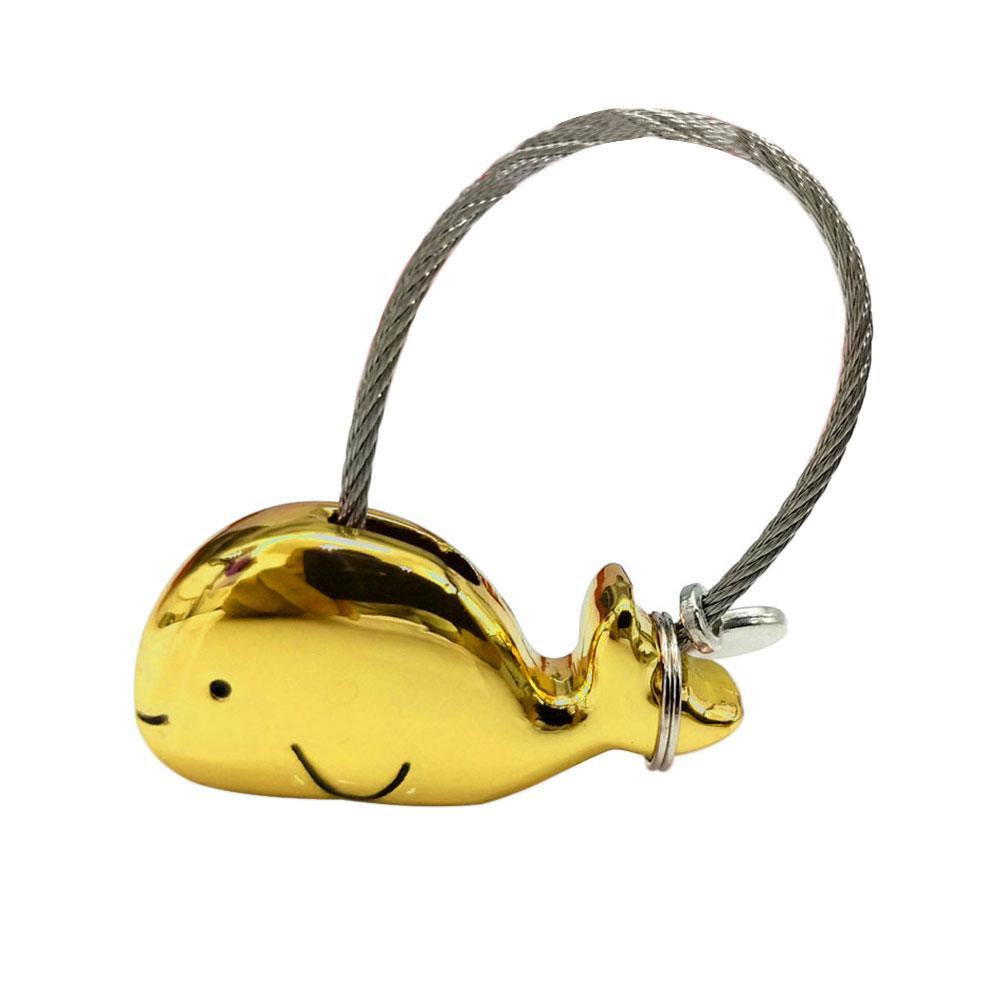 Pendant Lovely Charm Couple Keychain Polished Fashion Kissing Romantic Gift Sweet Zinc Alloy Whale Shape Decorative