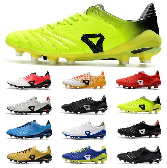2021 Erkek Deri Futbol Ayakkabıları Düşük Ayak Bileği Morelia Neo II FG Cleats Ayakkabı Dünya Kupası Erkekler Açık Futbol Çizmeler