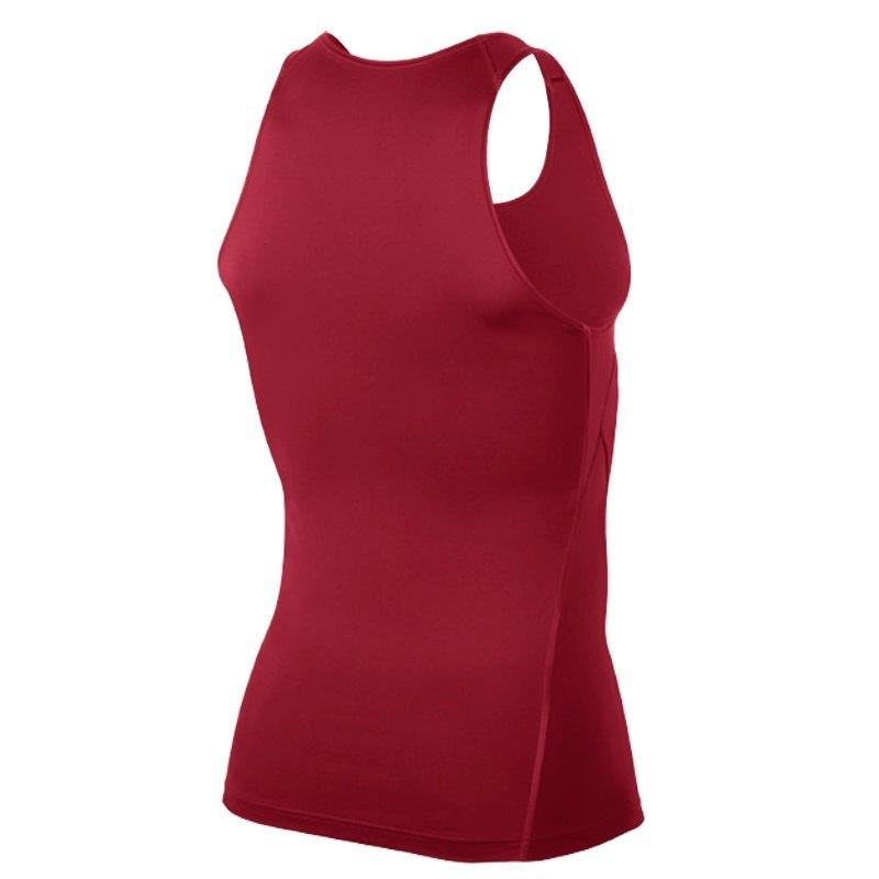 Мода-мужчины сжатия дышащий жилет рубашки базовая линия Черный Белый тренировки Фитнес без рукавов рубашки Бодибилдинг Майки S-2XL