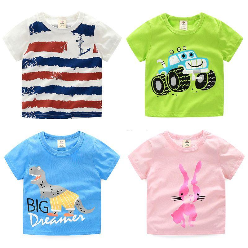 camiseta bebê menino meninos roupas de verão criança curtas meninos manga encabeça criança camisetas meninos vestuário crianças roupas BK5