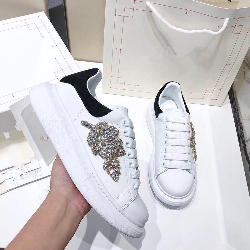 Le meilleur homme de qualité chaussures de marque de luxe bande blanche avec des chaussures de qualité supérieure ace casual pour les femmes baskets desiner taille 34-46 ym04