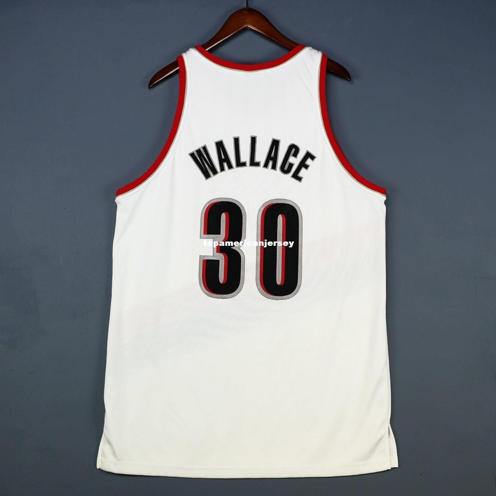 100% cosido Rasheed Wallace # 30 cosido Jersey para hombre blanco chaleco tamaño XS-6XL cosido baloncesto Jerseys Ncaa