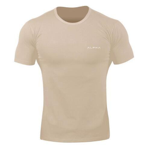 Rashgard Dry Fit Мужские Беговые Рубашки С Коротким Рукавом Спортивная Рубашка Мужчины Тренировки Плотное Сжатие Топ Тройники Хлопок Тренажерный Зал Спортивная Одежда