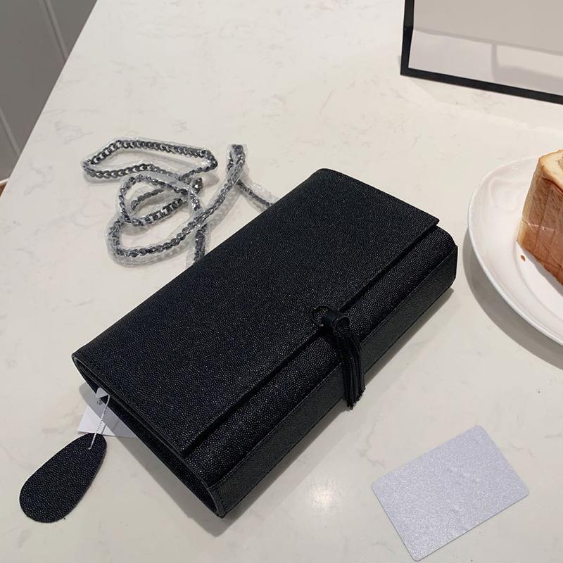 Alta qualidade Designer 2020 mulheres bolsa do couro genuíno preto cadeia de bolsa de ombro de Lady cinta crossbody embreagem sacos lucury