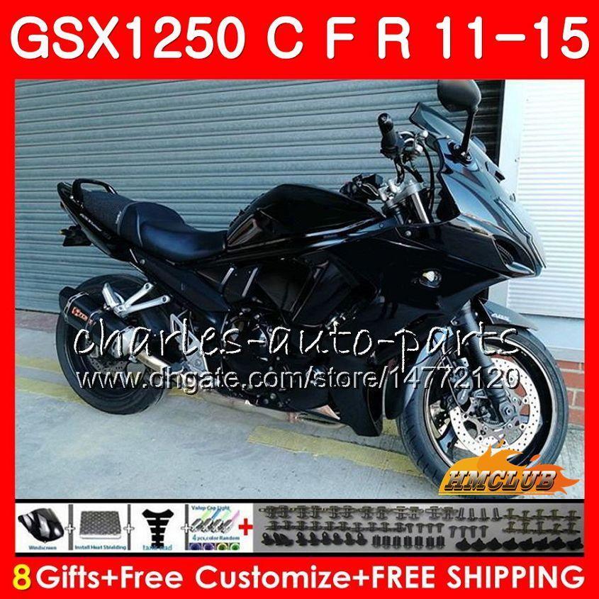 Kropp för Suzuki Bandit GSX1250F GSX1250FA GSX1250 C 11 12 13 14 15 23HC.0 GSXF1250 GSX1250C 2011 2012 2013 2014 2015 Fairing Glossy Black