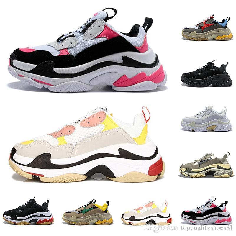 2021 أزياء الرجال النساء عارضة أبي الأحذية الثلاثي s 17fw الرياضة رياضة ترايبر الأسود الوردي خمر باريس منصة الأحذية