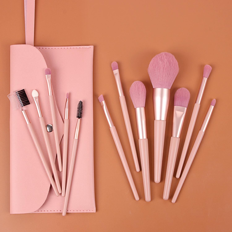 Maquillage Pinceaux de Rose multifonction Fond de teint poudre Correcteur blush fard à paupières cosmétiques Maquillage Brosses Outils Kit Sac