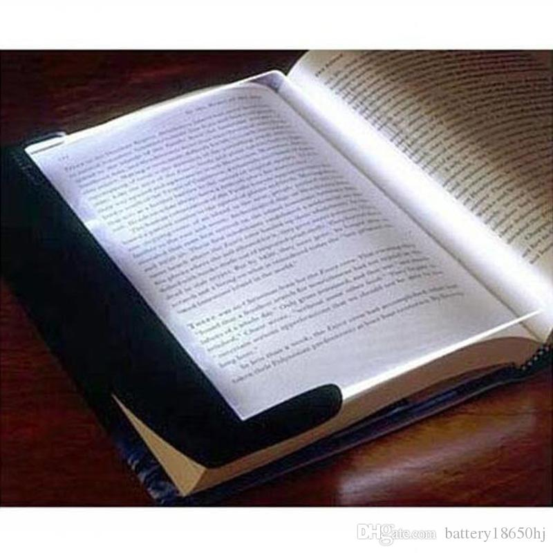 Magic Night Vision Book Light Led Reading Book Flat Plate Portable Car Travel Panel Reading Light Protect Eyes for Student gifts