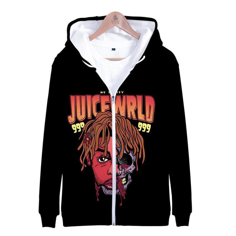 Wrld casacos de inverno RIP 999 homens e mulheres Coats Hiphop Estilo capuz soltas Outerwears com suco Zipper Rap Cantor