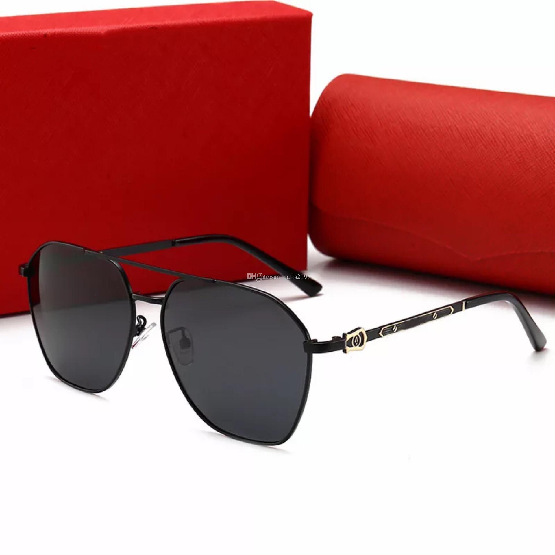 새로운 인기 높은 선글라스 명품 menWomen Square Summer Style 풀 프레임 최고급 자외선 차단 혼합 색상 선글라스