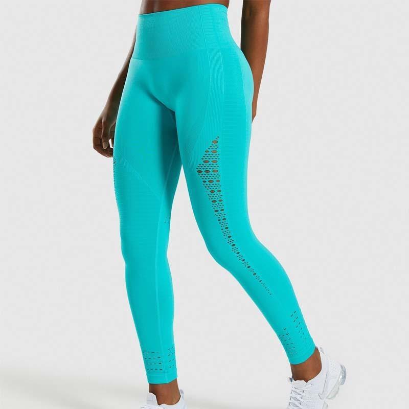 Sin fisuras de las polainas de las mujeres de la cadera empuje hacia arriba de yoga pantalones de cintura alta elástico botín polainas medias polainas de las mujeres aptitud del deporte T200325