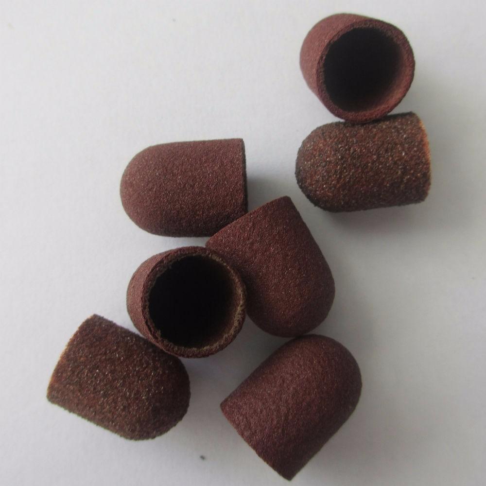 30шт ногтей инструменты шлифовальные колпачок Без блока сцепление-шлифовальные ленты для маникюра дрель полировка аксессуары