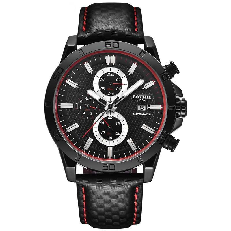 New watch male student male watch sport waterproof fashion fully automatic multi-functional mechanical leather luminous