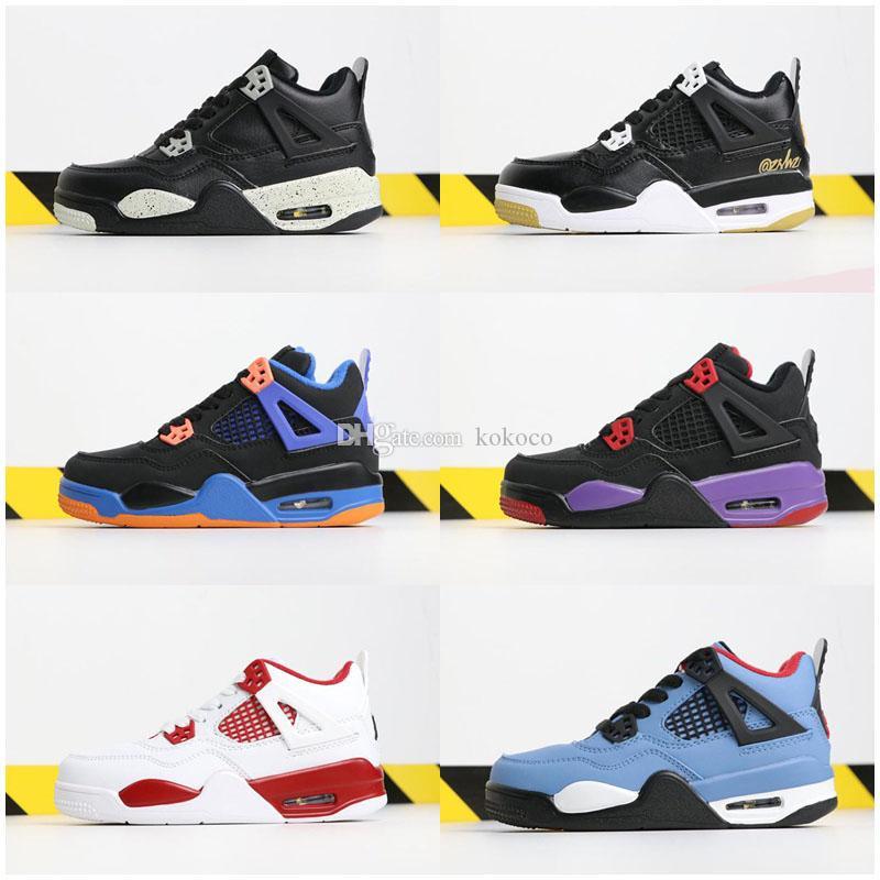 2020 nova tatuagem 4 crianças tênis de basquete Crianças PRODUZIDO esportes sapatos de designer Ginásio Red Chicago Boy Meninas 4s Raptors tênis Athletic