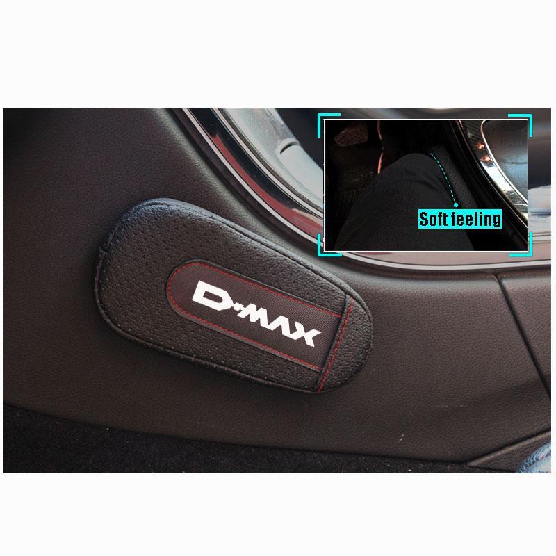 Elegante y cómodo de la pierna de rodilla acolchado cojín del reposabrazos Interior del coche Accesorios Para Isuzu Dmax