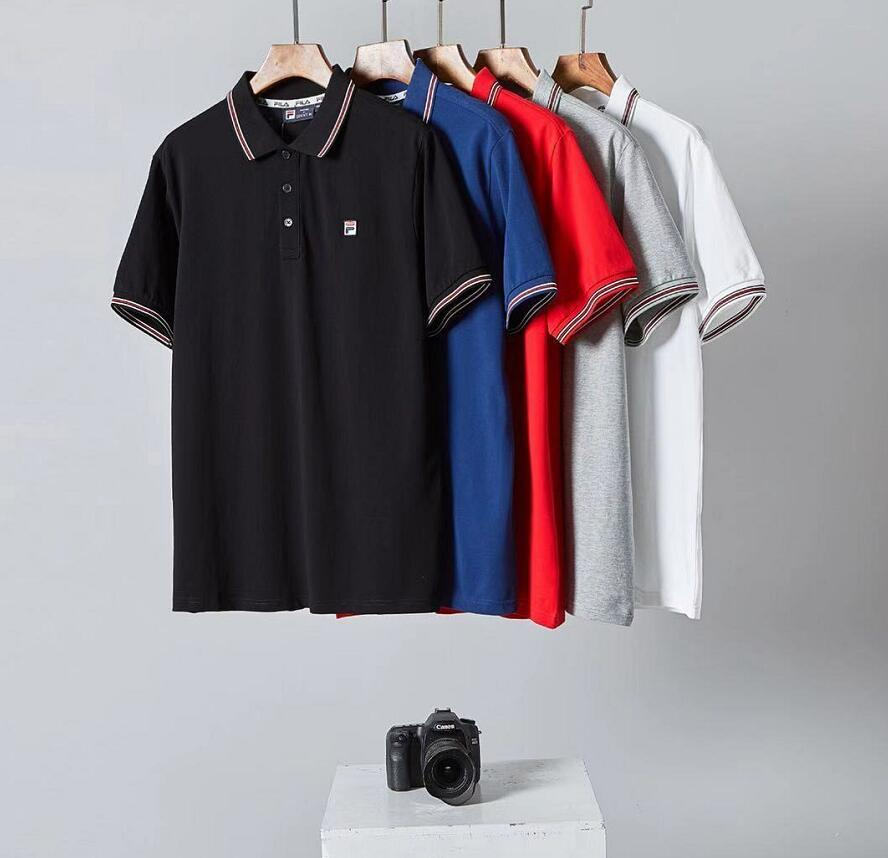 2020 XXLFILA Mens Polo Shirt Top Fashion T Shirt Boutique Plaid Men Women Polo Shirt Design Your T Shirt Personalized T Shirt From Zyq1995, $27.14|