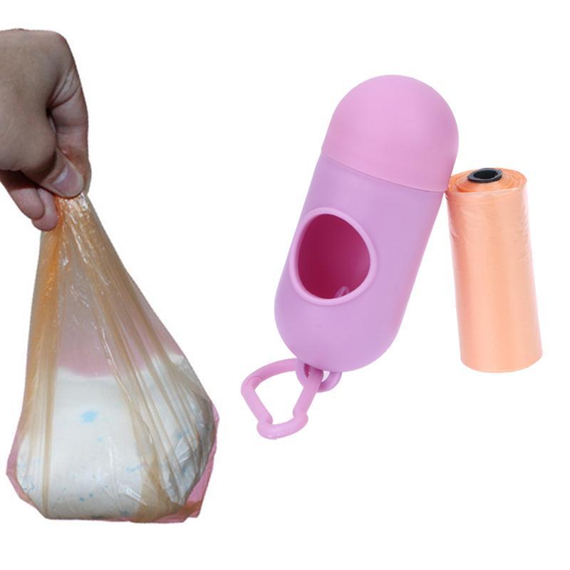 Herramienta del cuidado portátiles pañales para bebés abandonados Bolsas bolsas de basura Caso mascota bolsa de basura extraíble Caja bolso del panal para el bebé