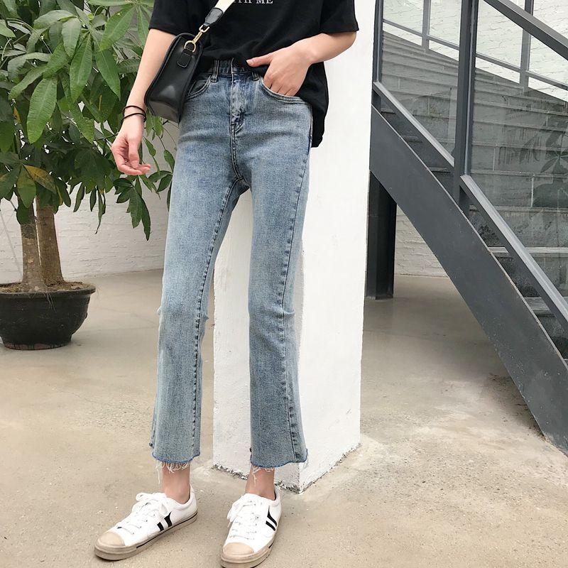 Лаванда Новых джинсы Женщины 20 Весна Досуг Хань издание высокая талия