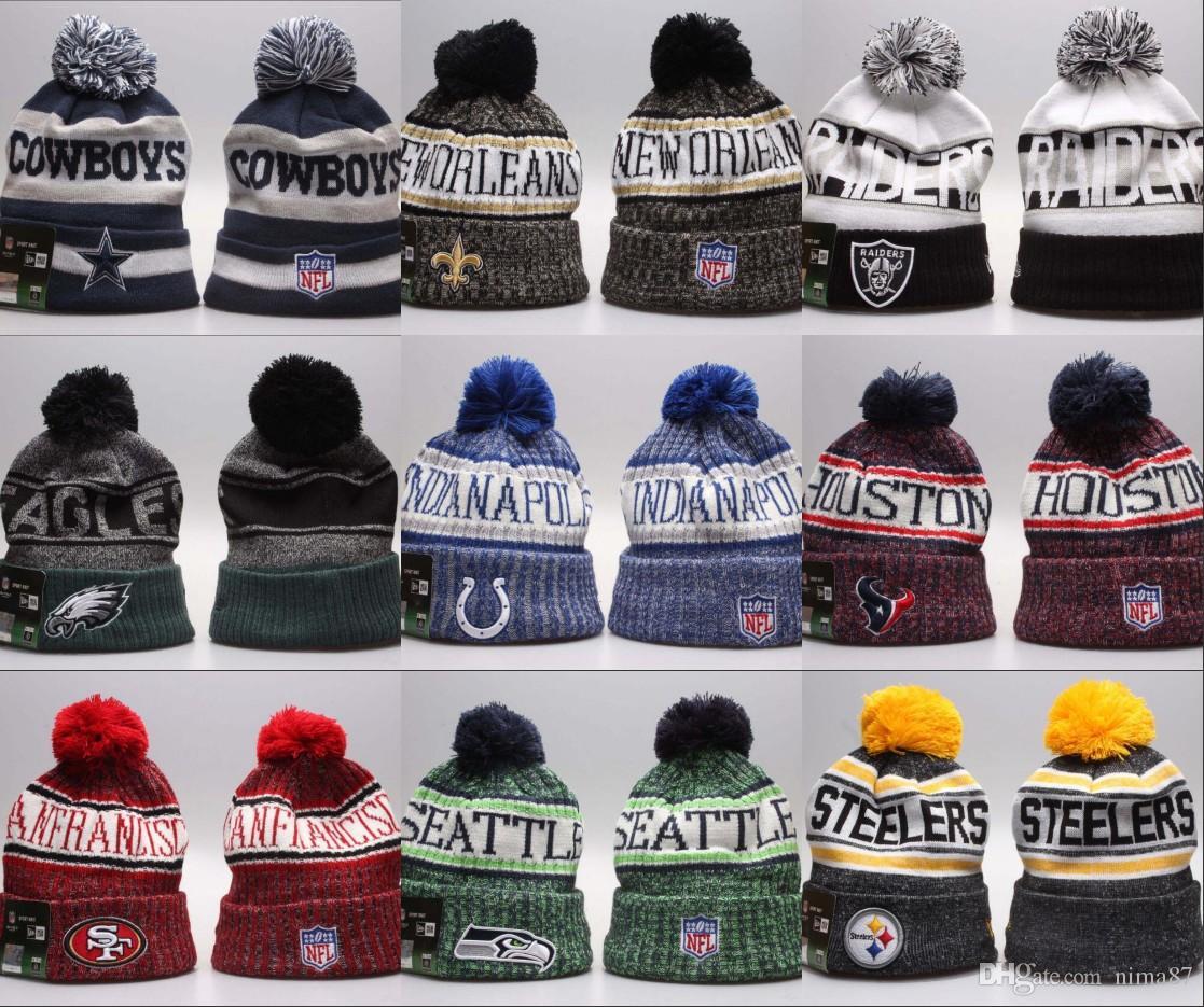 Newest winter Beanies Knitted hats America sport all Team baseball football basketball caps beanie Women Men popular fashion dropshipping