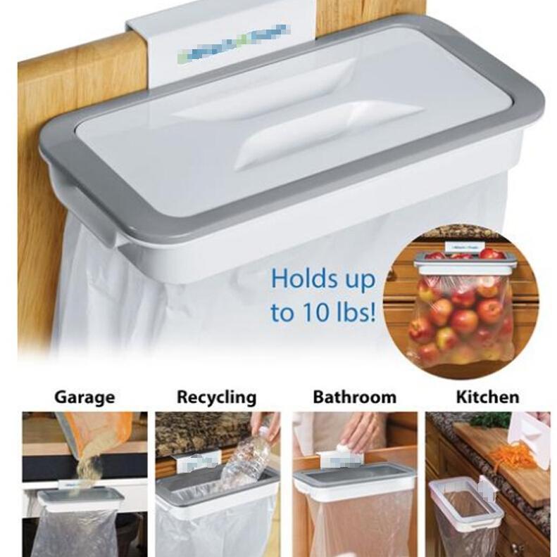 Anexar-A-Lixo Pendurado Saco de Lixo titular Porta Do Armário De Cozinha Casa De Plástico De Armazenamento Doméstico Titular Saco De Lixo ferramentas de casa FFA1878