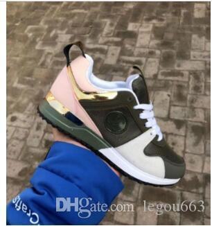 NEW Designer sneakers Brand Woman Man Shoes Leather Mesh Mixed Color Trainer Runner Shoes Unisex Size 36-41 WY039