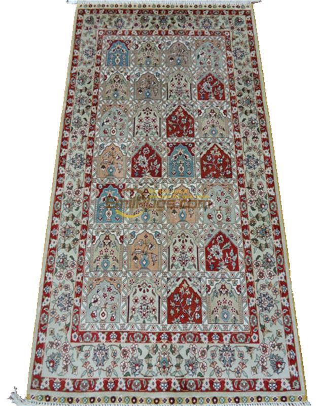 Large Blue Pure Silk Handmade Persian Rugs Turkish Home Carpet Silk on
