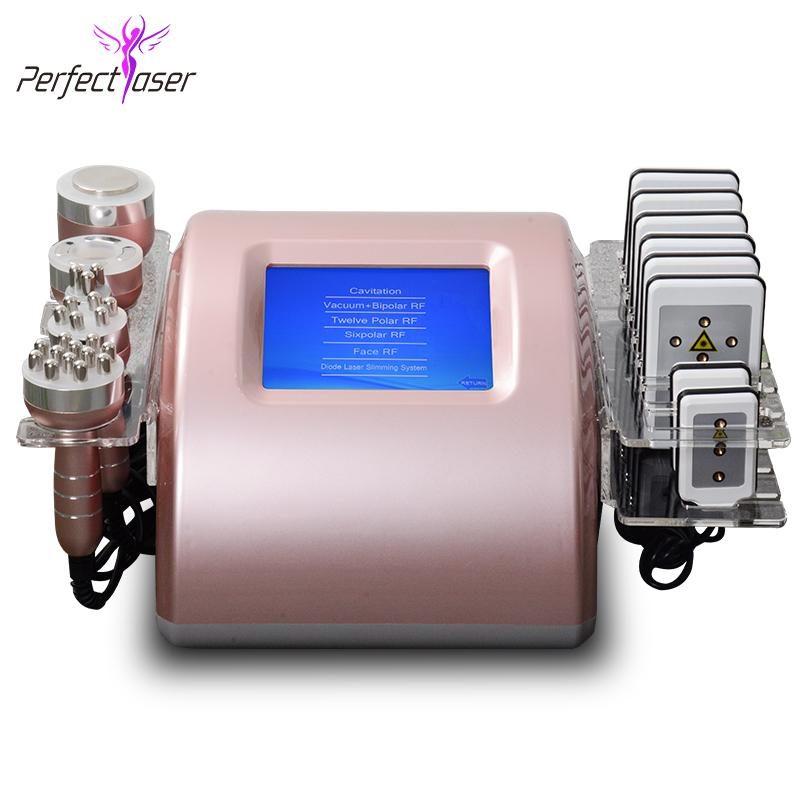 Free shipping rf vacuum facial machine face lift skin rejuvenation device radio frequency slim ultrasonic cavitation equipment