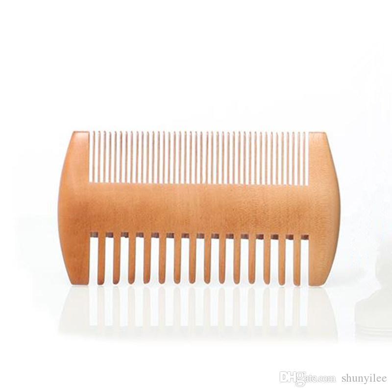 Fine dent grossier double face en bois peigneurs de scorpion en bois Scorpion peigne double côté barbe peigne pour hommes F3150