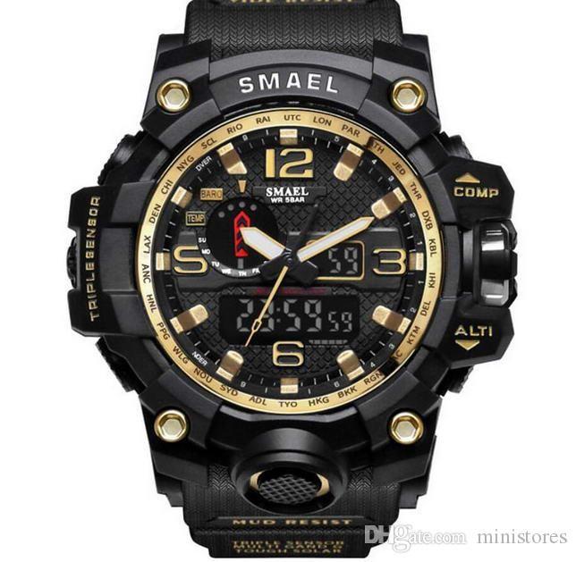 Montres Neuf hommes Designer LED militaire numérique montre-bracelet Horloge Montre relogio 1000 montres de sport en ligne