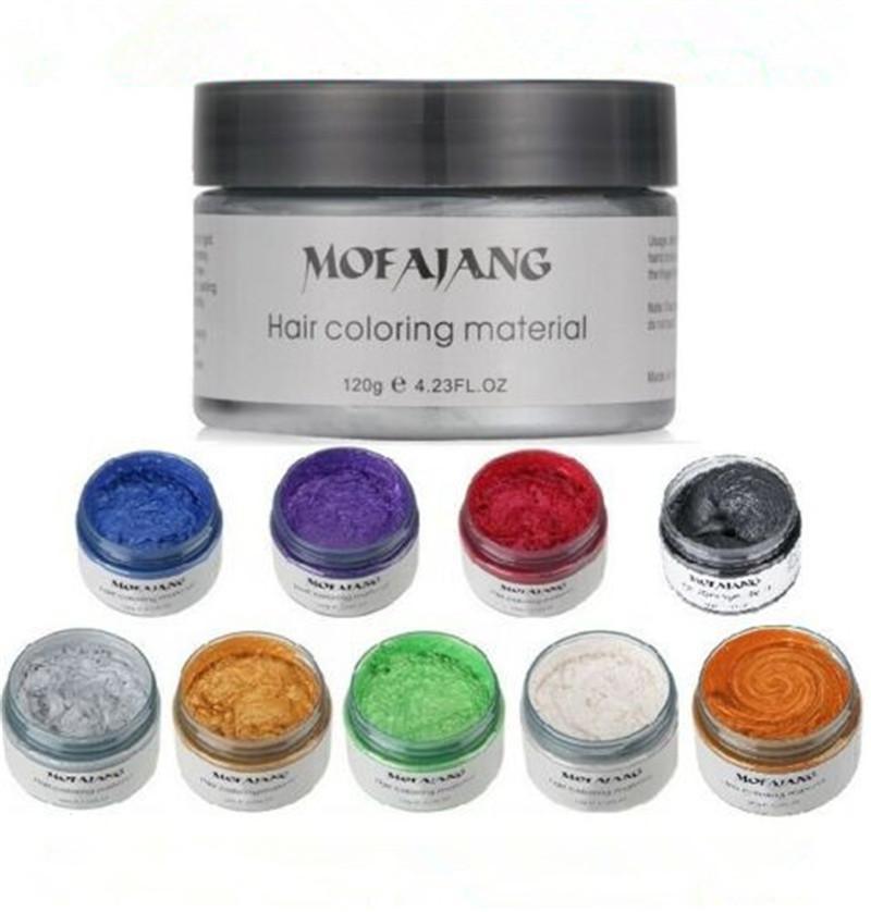 اللون Mofajang الشعر الشمع لتصفيف الشعر Mofajang مرهم أسلوب قوي استعادة المرهم الشمع هيكل عظمي كبير مملس 9 الألوان