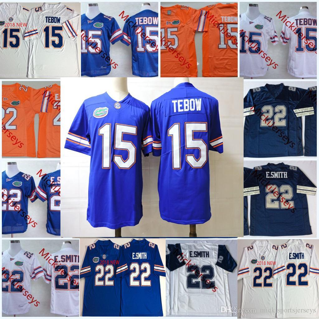 Mens 2018 nuovo NCAA Florida Gators Tim Tebow College Football maglie cucite # 22 Emmitt Smith Florida Gators Jersey S-3XL