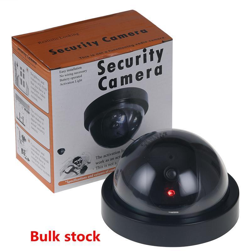 Wholesale-2017 홈 보안 가짜 시뮬레이션 비디오 감시 실내 야외 더미 Led 돔 카메라 신호 발생기 전기 핫 66 새로운