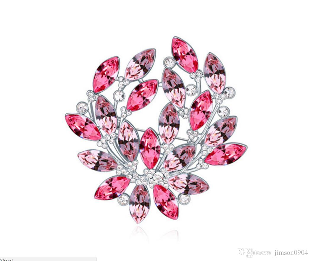 Free shipping fashion jewelry Using Swarovski Elemental Crystal Brooch Glittering and luxurious Garland Brooch Pin Brooches Pins