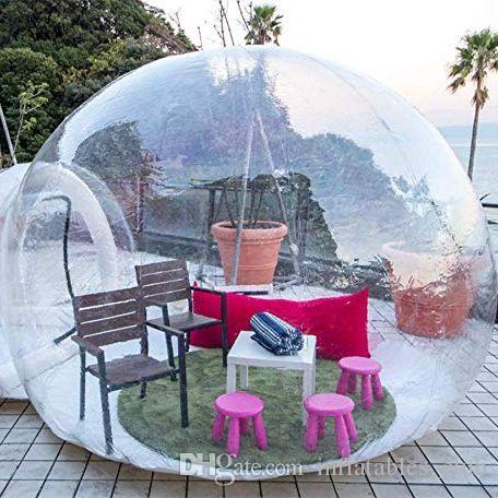 2019 جديد قابل للنفخ فقاعة فندق 3M / 4M / 5M ضياء فقاعة خيمة للتخييم جميلة نفخ كوخ الإسكيمو خيمة شفافة فقاعة قبة