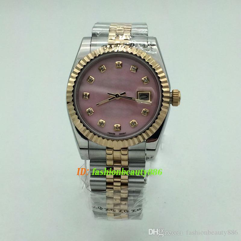 Classique Hommes Montres Quartz 36mm or Calendrier automatique Bracelet Ladies 32mm Montres-bracelets de diamant de luxe Femmes Designer Montre Couples style