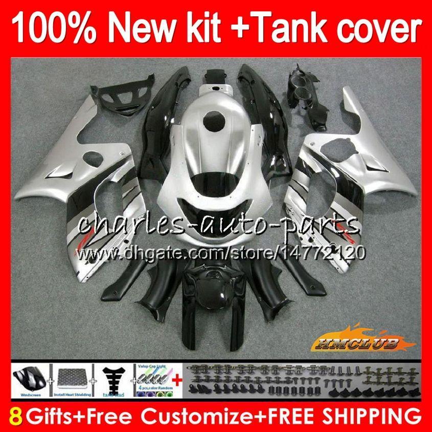 Body For YAMAHA YZF-600R CC YZF600R gloss silver Thundercat 72NO.32 YZF 600R 96 97 98 99 00 01 02 1996 1997 1998 1999 2000 2001 2002 Fairing