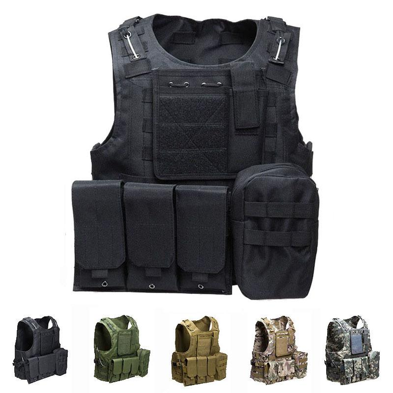 hunting Equipment Tactical Vest Army Combat Airsoft Paintball Molle Body Armor Vest Outdoor Camouflage Hunting Protection Vest