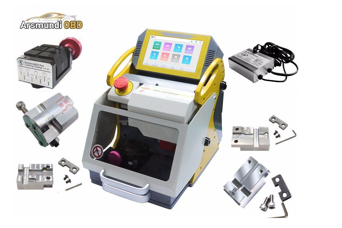 2020 DHL free Newest Full 6 Clamps Original SEC E9 CNC Automatic Key Cutting Machine For Car Keys & House Keys Better Slica I80 Key Maker