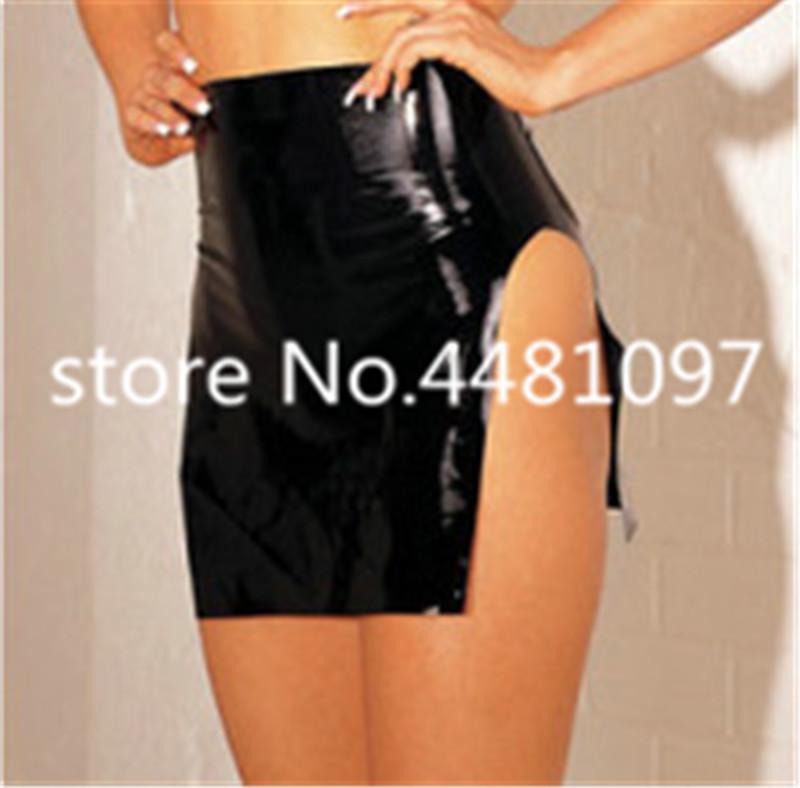 العفن مثير النساء السود اللاتكس صنم zentai البسيطة اللباس فساتين المطاط الغريبة S-L