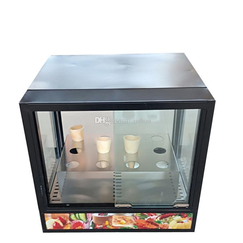 vetrina vendita calda la pizza di alta qualità della macchina cono di pizza cono produttore commerciale cassa della macchina di visualizzazione
